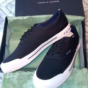 Tommy Hilfiger Black Fabric Sneakers